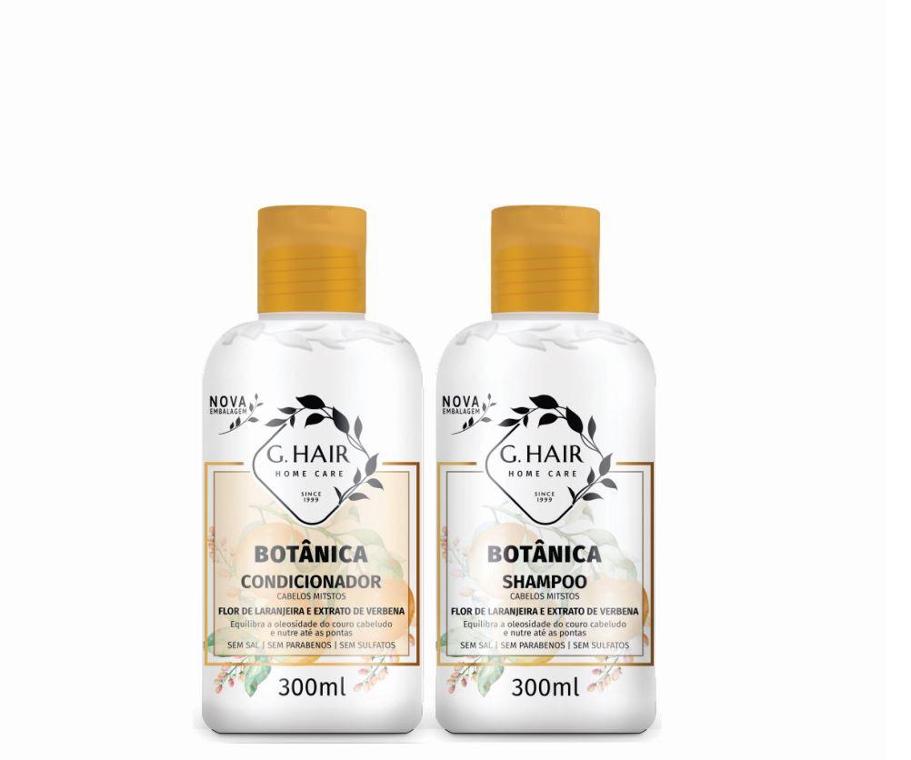 Ghair Kit Botânica Tratamento Cabelos Mistos 300ml  - Loja Ghair Cosmeticos