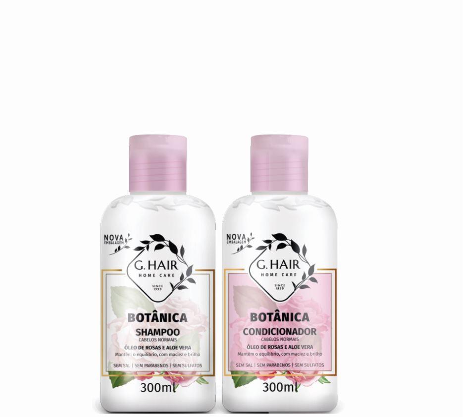 Ghair Kit Botânica Tratamento Cabelos Normais 300ml  - Loja Ghair Cosmeticos