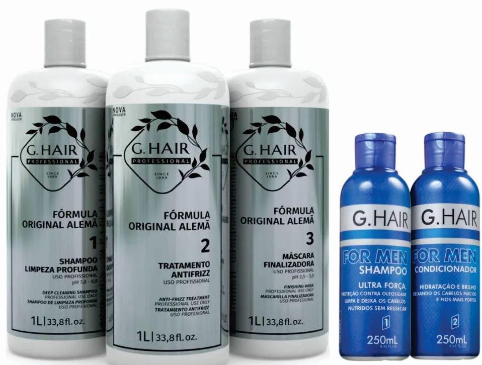 Ghair Kit Escova Alemã 3x1L + Kit For Men (brinde)  - Loja Ghair Cosmeticos
