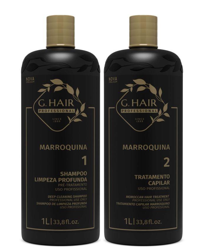 Ghair Kit Escova Marroquina 2x1 Litro  - Loja Ghair Cosmeticos