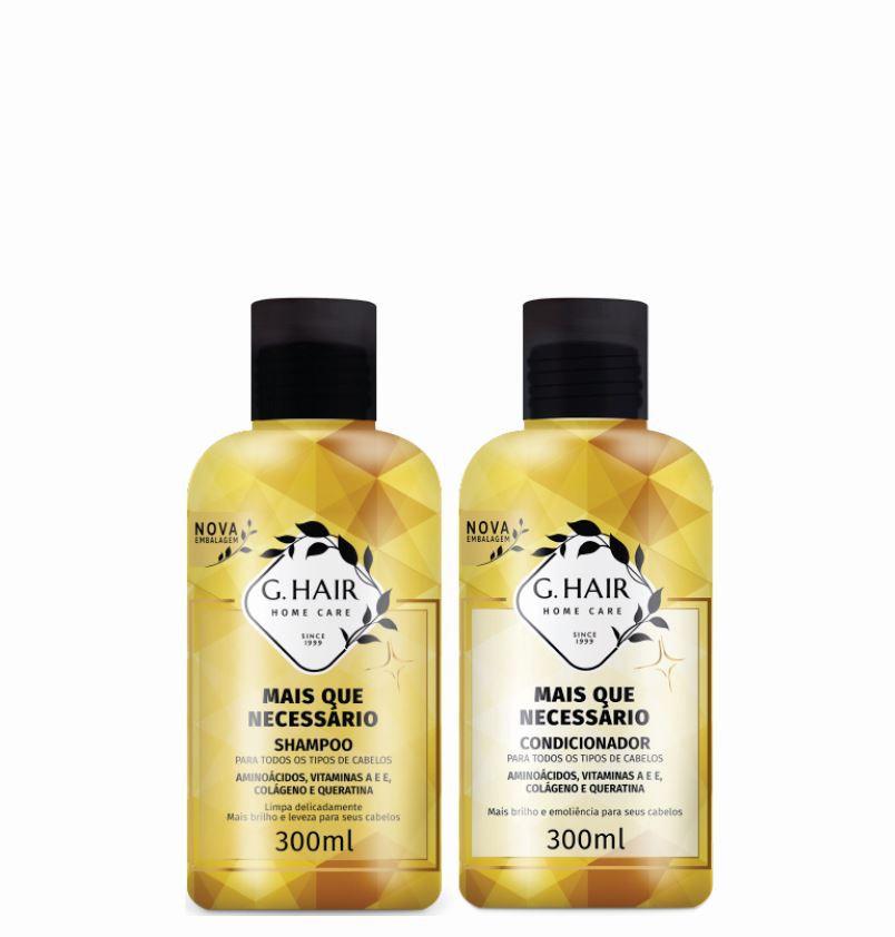 Ghair Kit +Que Necessário Shampoo e Condicionador 300ml  - Loja Ghair Cosmeticos