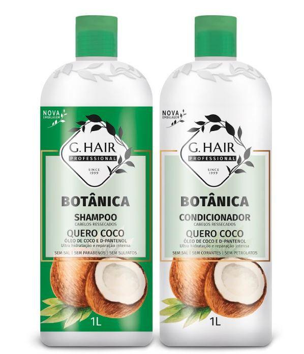 Ghair Kit Quero Coco - Botânica Tratamento Cabelos Ressecados  - Loja Ghair Cosmeticos