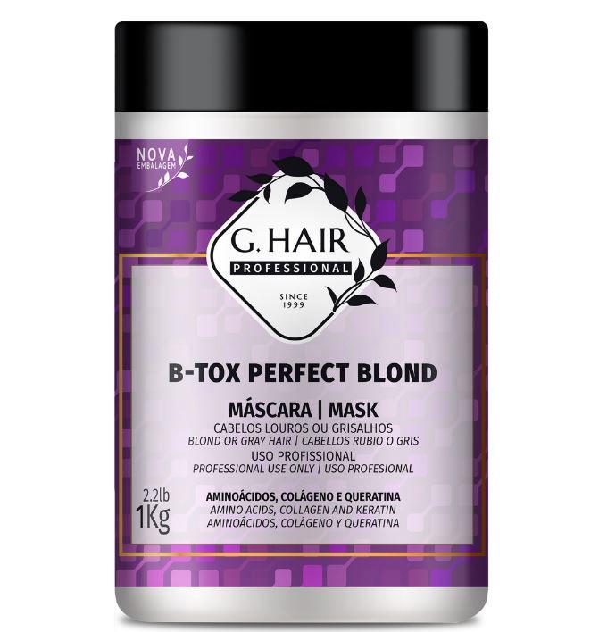 Ghair Máscara B-tox Blond Perfect Kg  - Loja Ghair Cosmeticos
