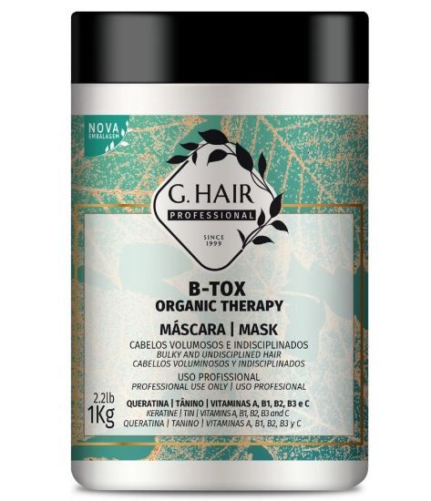 Ghair Máscara B-tox Organic Therapy Kg  - Loja Ghair Cosmeticos