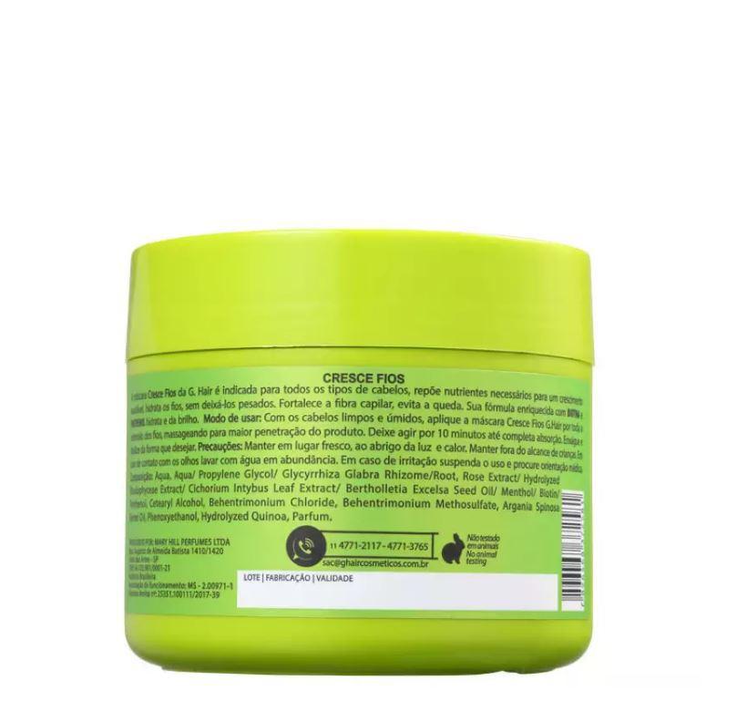 Ghair Máscara Cresce Fios 500g (validade 10/21)  - Loja Ghair Cosmeticos