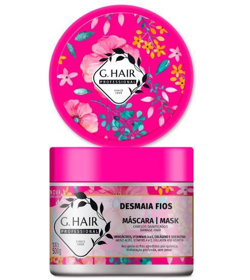 Ghair Máscara Desmaia Fios - 500g  - Loja Ghair Cosmeticos