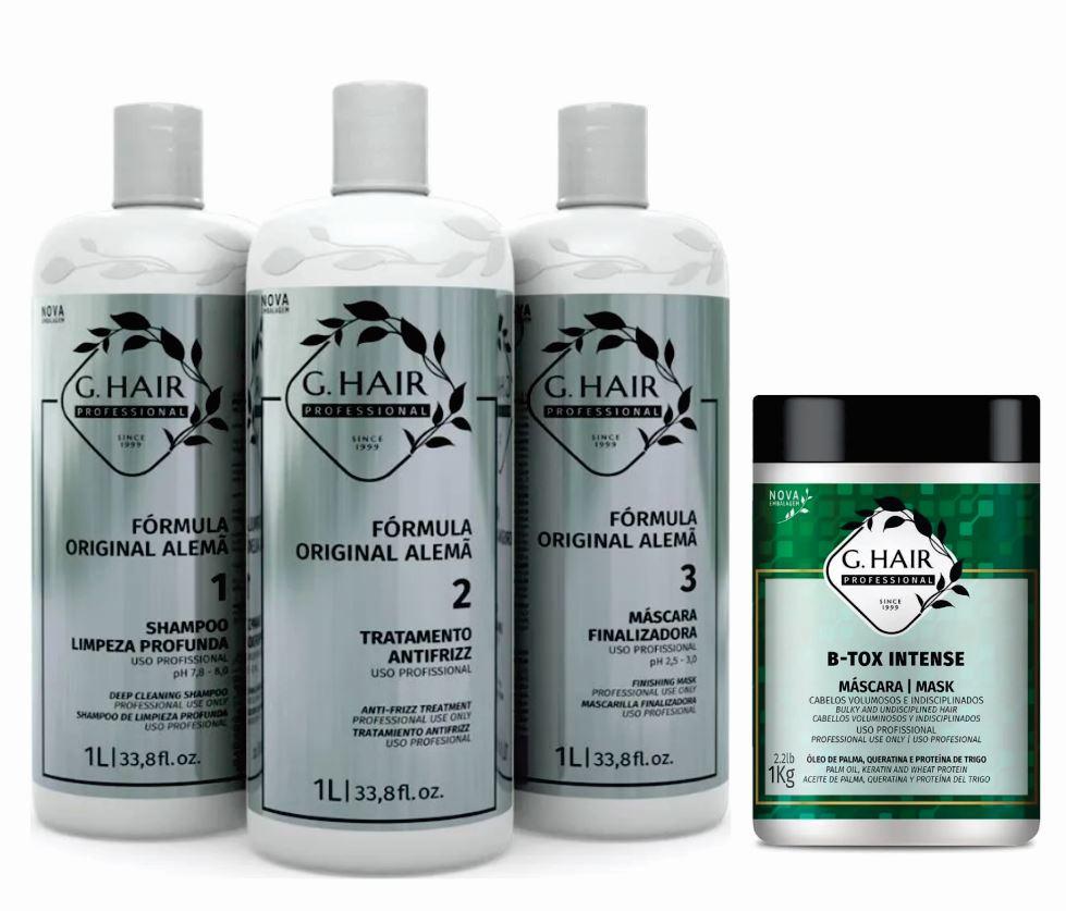 Kit Ghair Escova Alemã 3x1 Litro + B-tox Intense kg  - Loja Ghair Cosmeticos