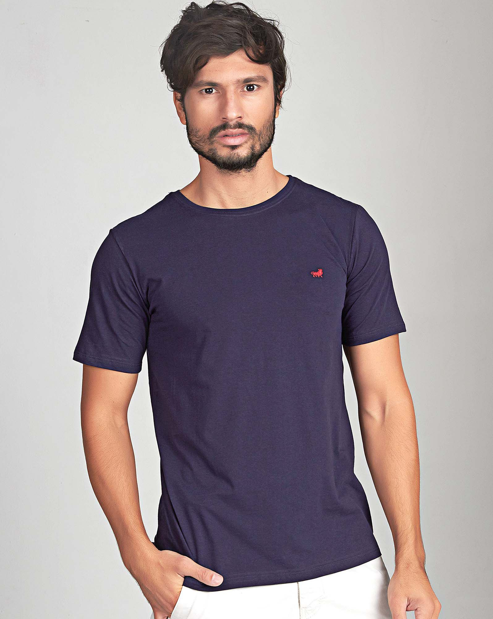 CAMISETA DARK BLUE PIMA LOGO