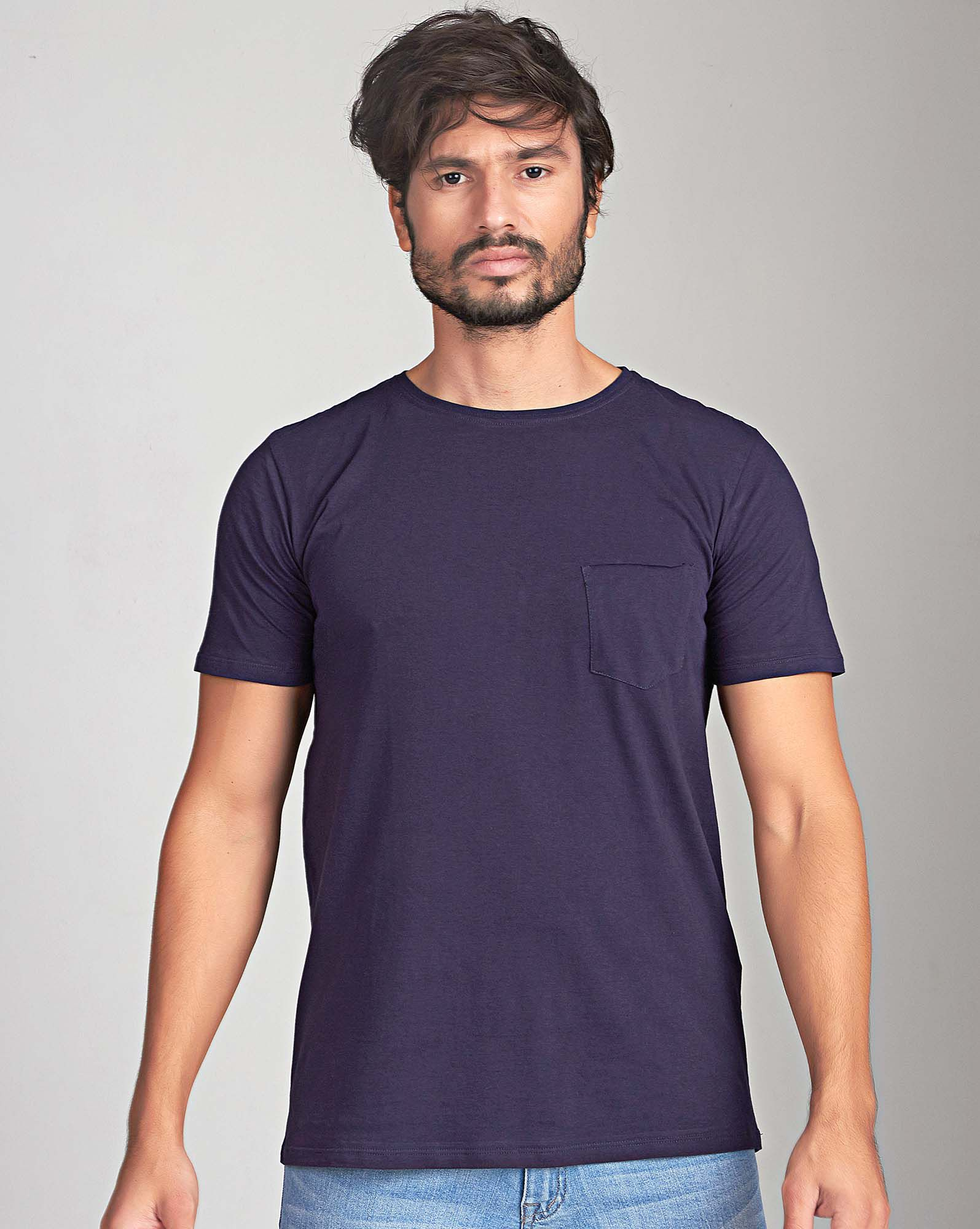CAMISETA DARK BLUE POCKET PIMA