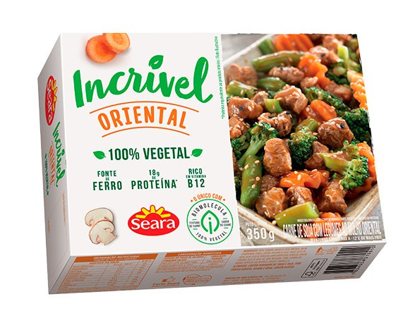 Carne vegetal com legumes oriental Seara