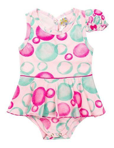 Body Regata Com Saia E Chapéu Pink - Fantoni