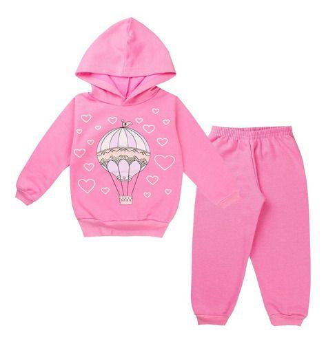 Conjunto Bebê Menina Moletom Peluciado 3 cores