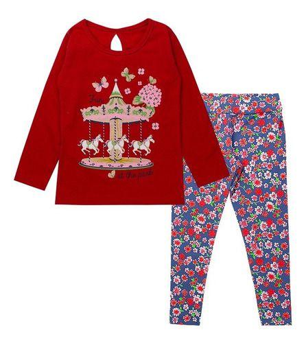 Kit 5 Conjunto Infantil Menina Coton Estampado