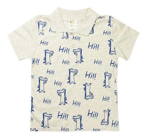 Kit 5 Camiseta Infantil Polo Atacado Malha Algodão Estampada