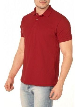 Kit 5 Camisa Polo Masculina Lisa Manga Curta