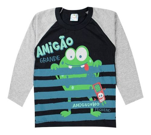 Kit 5 Camiseta Manga Longa Menino 10 ao 14 Anos