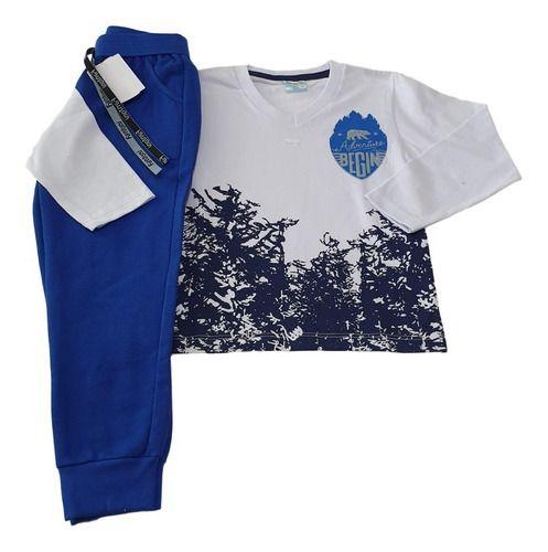 Kit 3 Conjuntos Infantis Masculino Calça Moletom E Camiseta