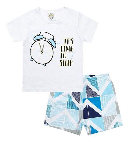 Conjunto Pijama Que Brilha Masculino Azul - Fantoni