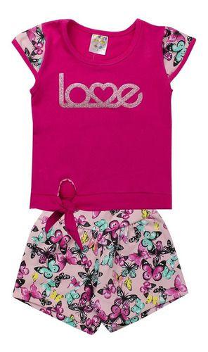Conjunto Infantil Feminino Love Pink - Fantoni