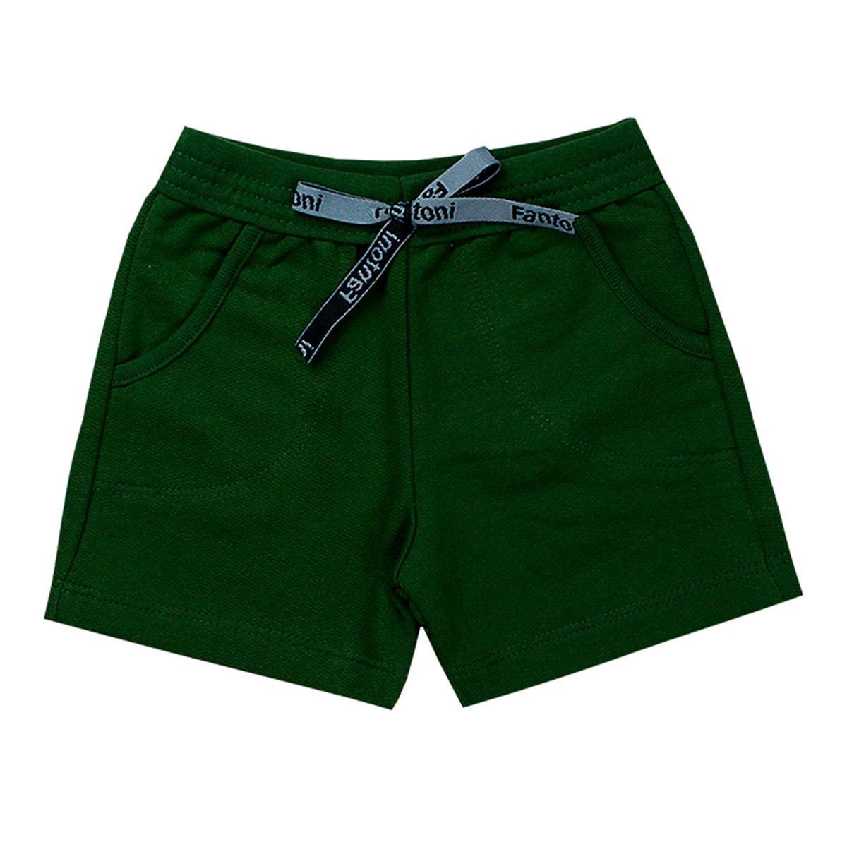 Bermuda Infantil Com Bolso Menino Verão Verde - Fantoni