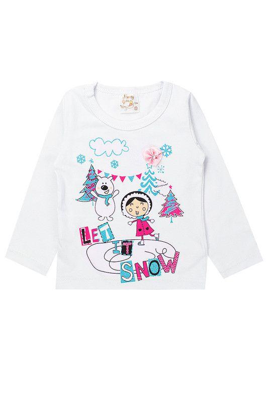 Blusa Infantil Bebê Menina Let It Snow Branca