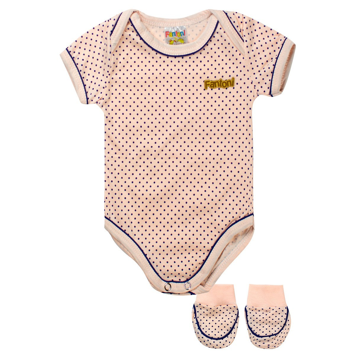 Body Infantil Bebê Menina Com Sapatinho Rosa - Fantoni