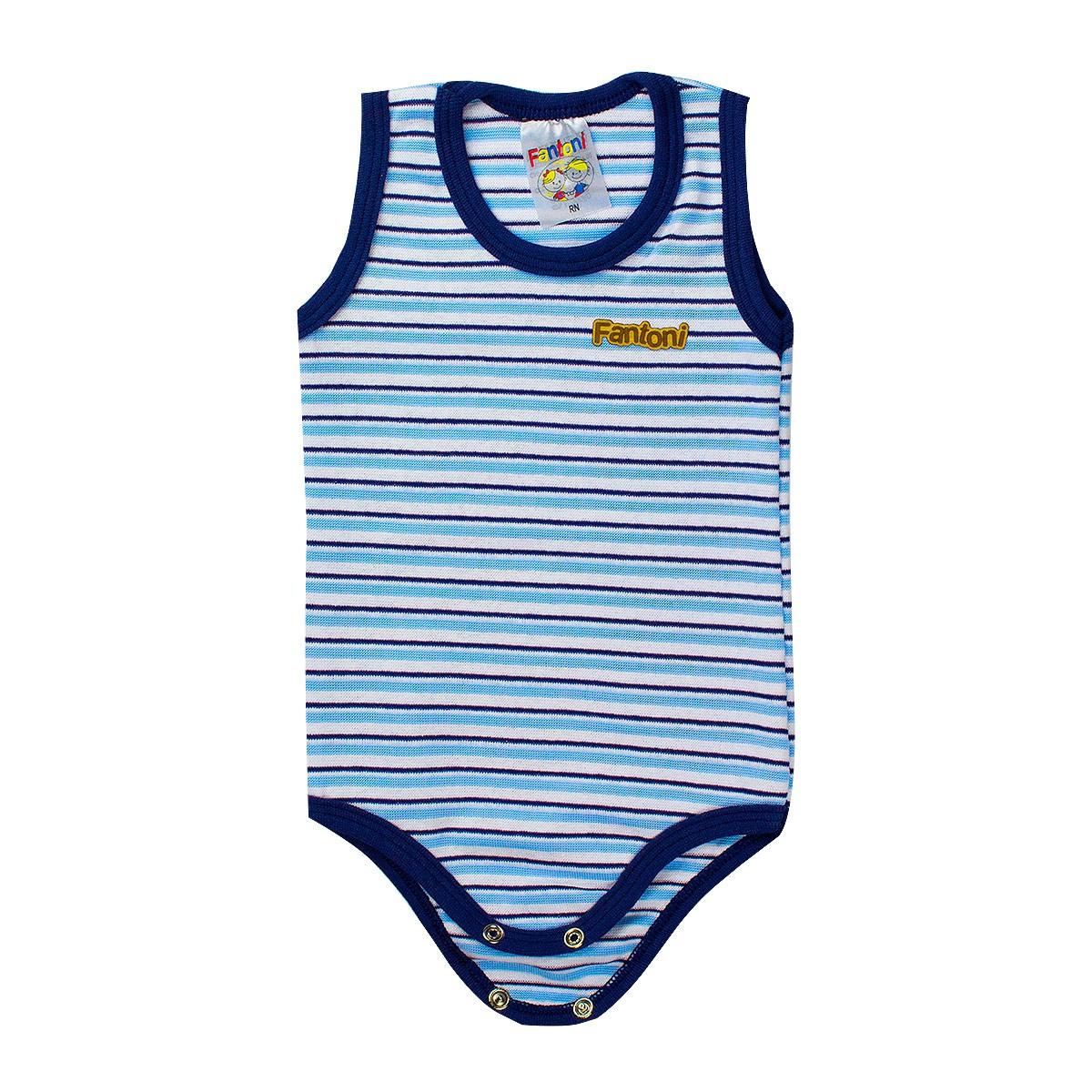 Body Infantil Menino Regata Azul - Fantoni