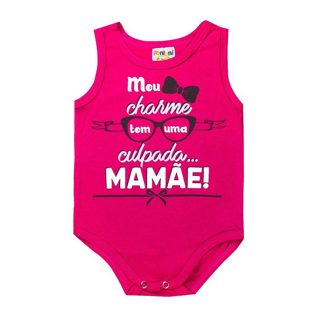 Body Infantil Regata Bebê Recém - Nascido Pink - Fantoni