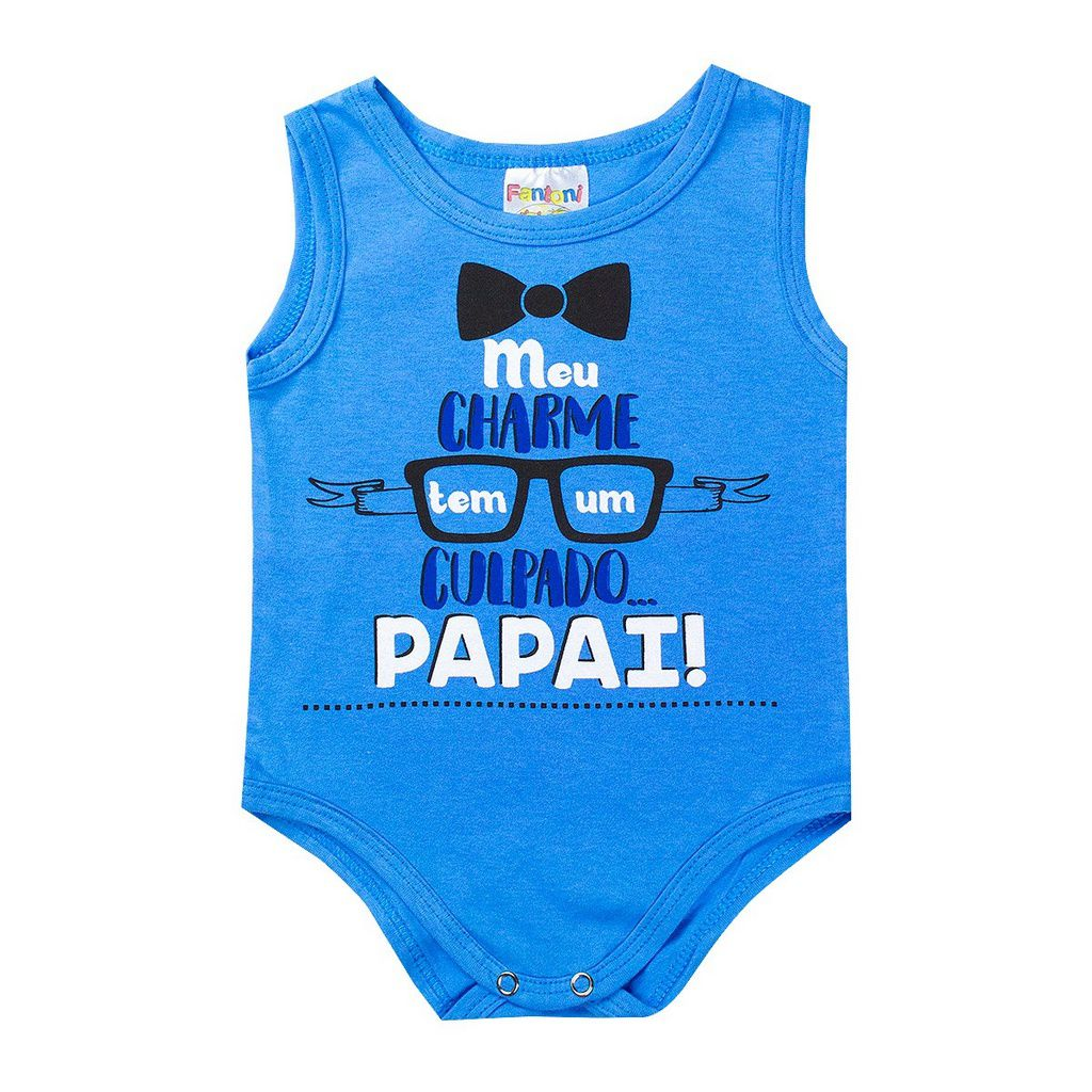 Body Infantil Regata Bebê RN Azul - Fantoni