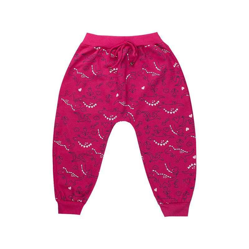 Calça Saruel Infantil Menina Rosa Pink Isensee