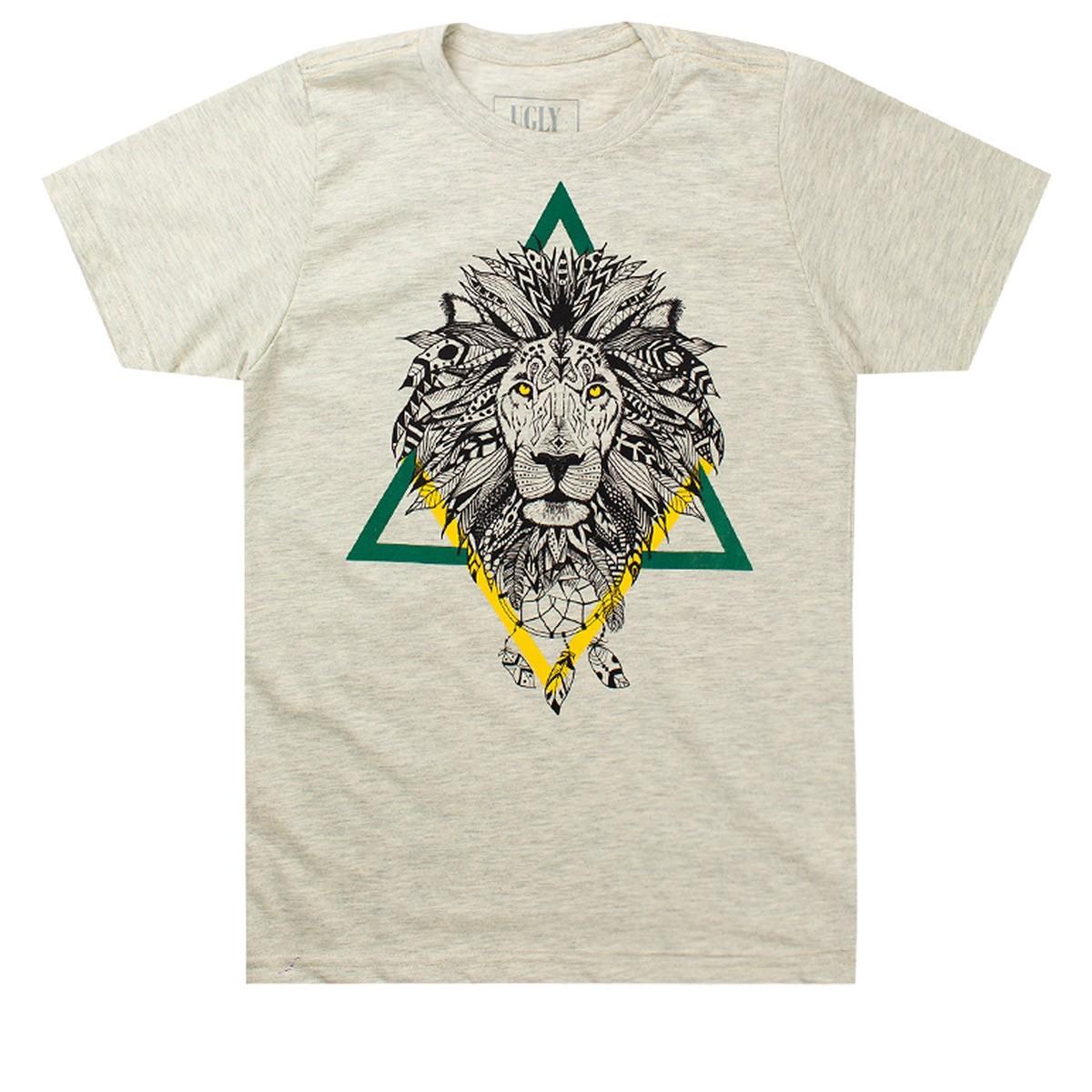 Camiseta Infantil Masculina Lion Mescla - Ugly