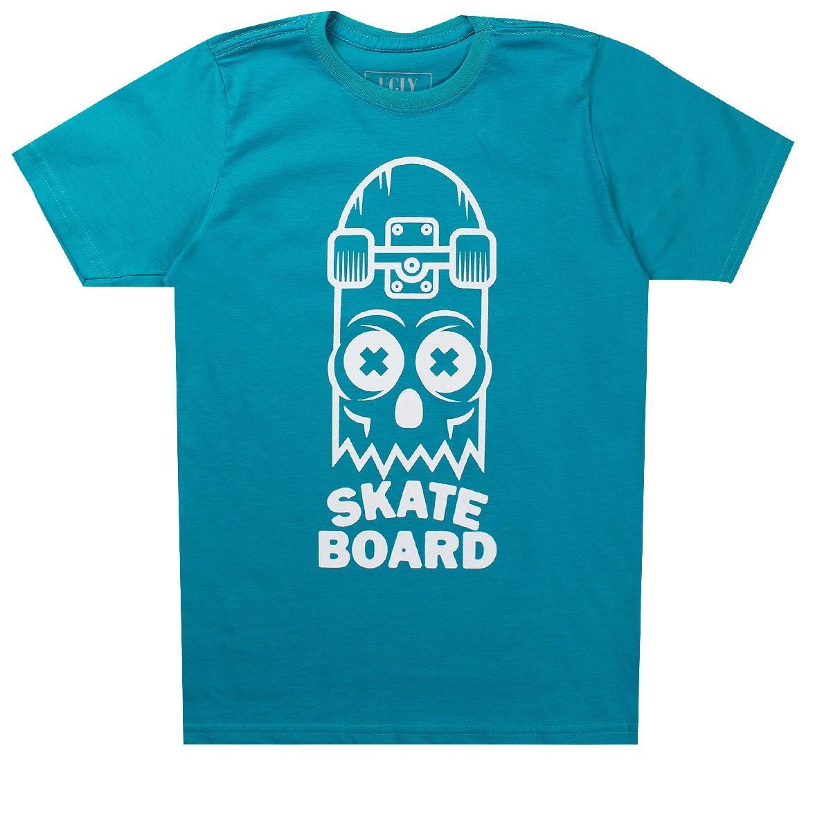 Camiseta Infantil Masculina Skate Board Verde - Ugly