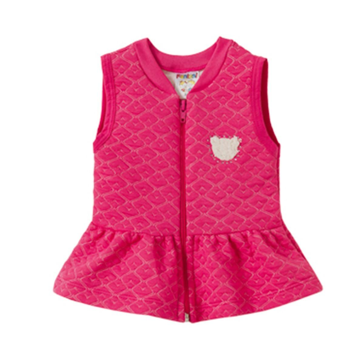 Colete Com Babado Matelasse Infantil Menina Pink - Fantoni