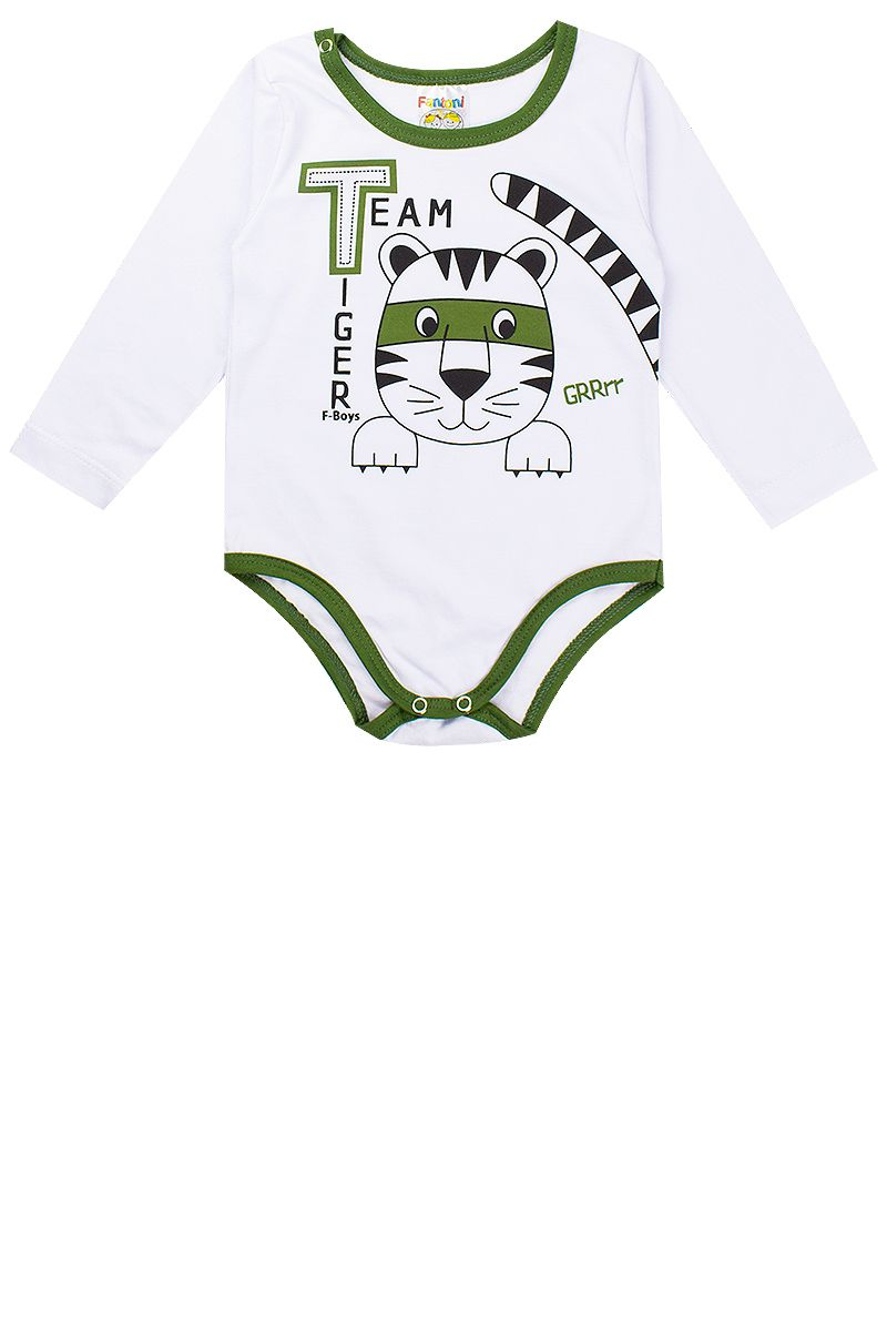 Conjunto Bebê Masculino 3 Peças Body Camuflado Verde Fantoni