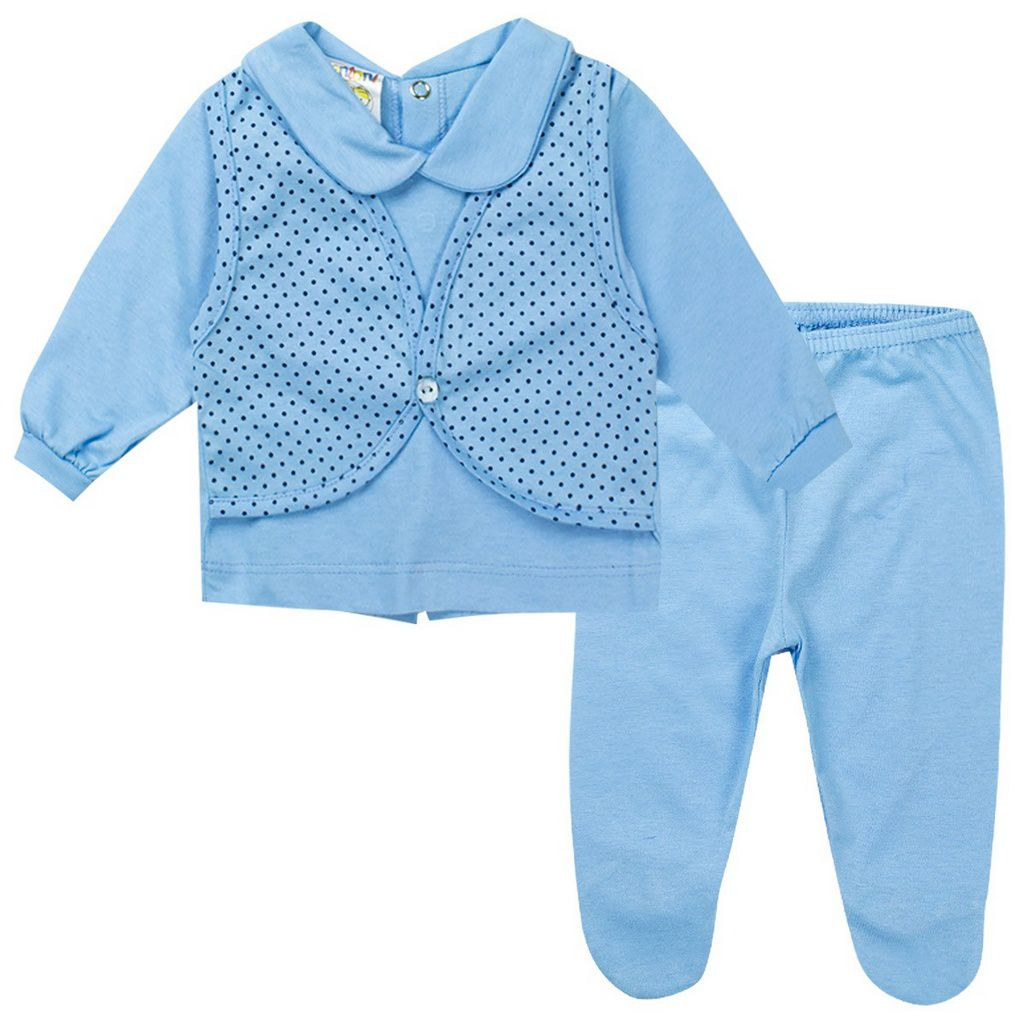 Conjunto Bebê Masculino Azul - Fantoni