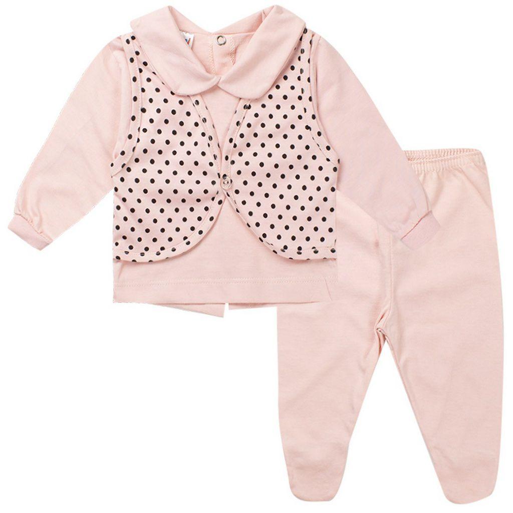 Conjunto Bebê Feminino Rosa - Fantoni