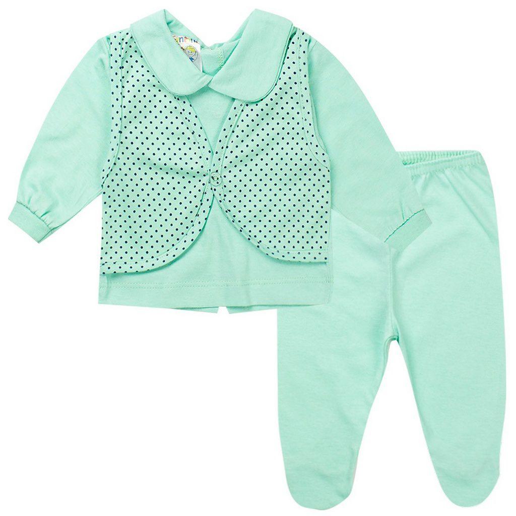 Conjunto Bebê Masculino Verde - Fantoni
