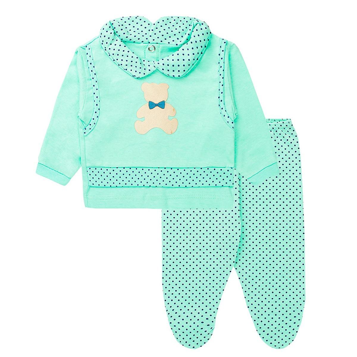 Conjunto Bebê Recém Nascido Menino Meia Malha - Fantoni
