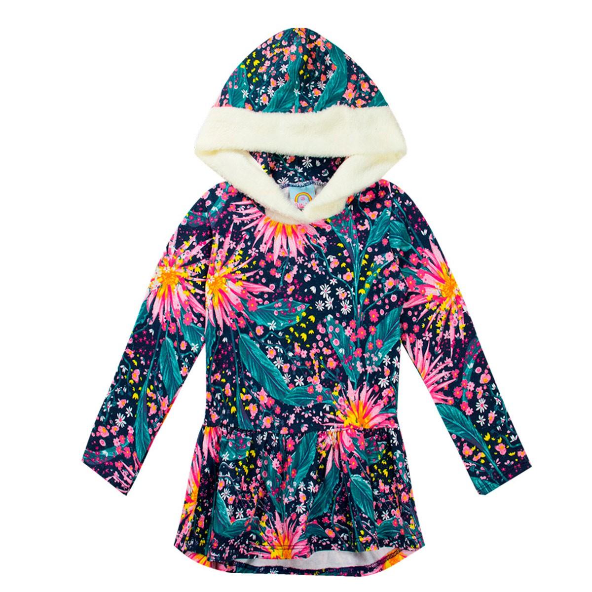 Conjunto Blusa Infantil Menina Matelasse Verde - Vitalite