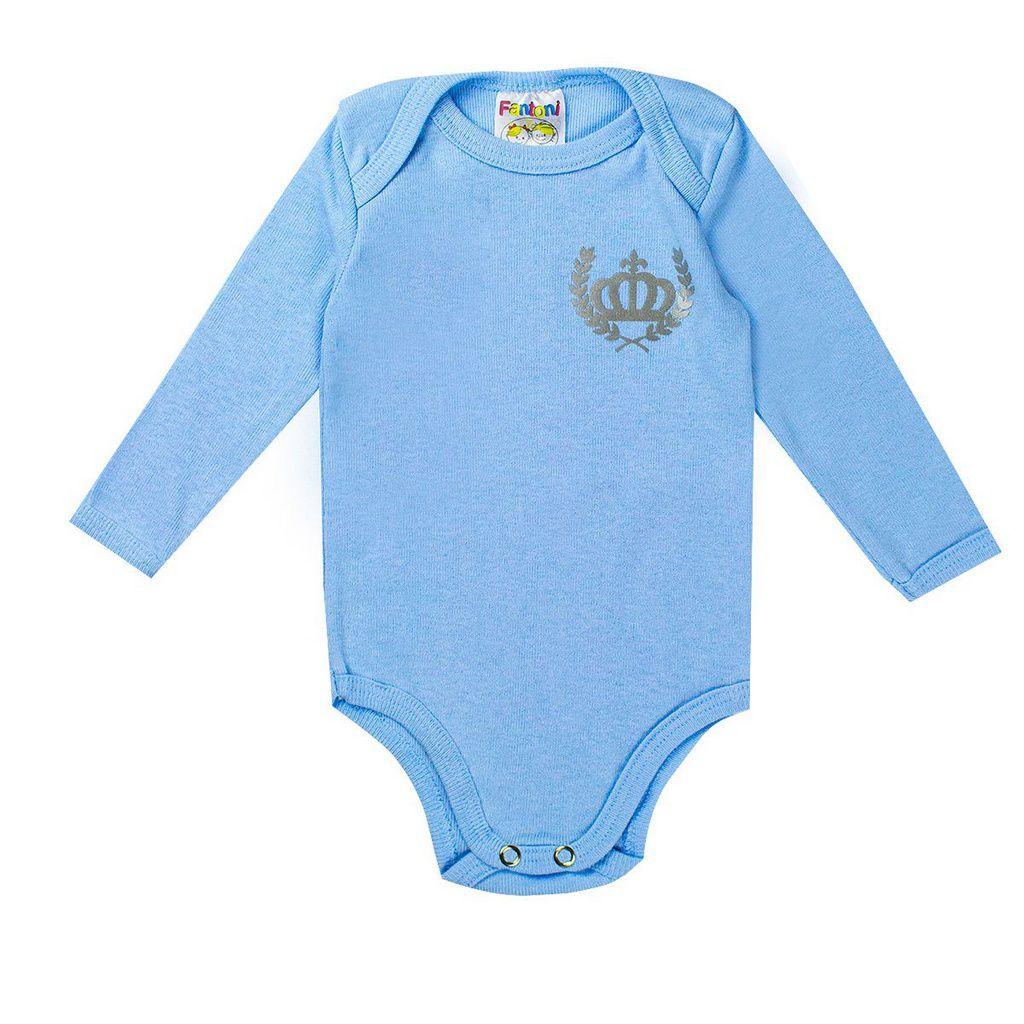 Conjunto Body Com Calça Azul Recém - Nascido - Fantoni