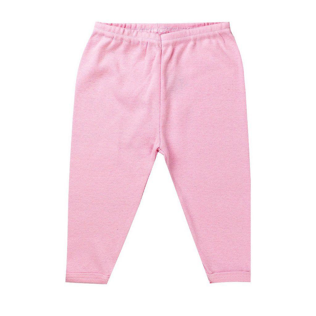 Conjunto Body Com Calça Rosa Recém - Nascido - Fantoni
