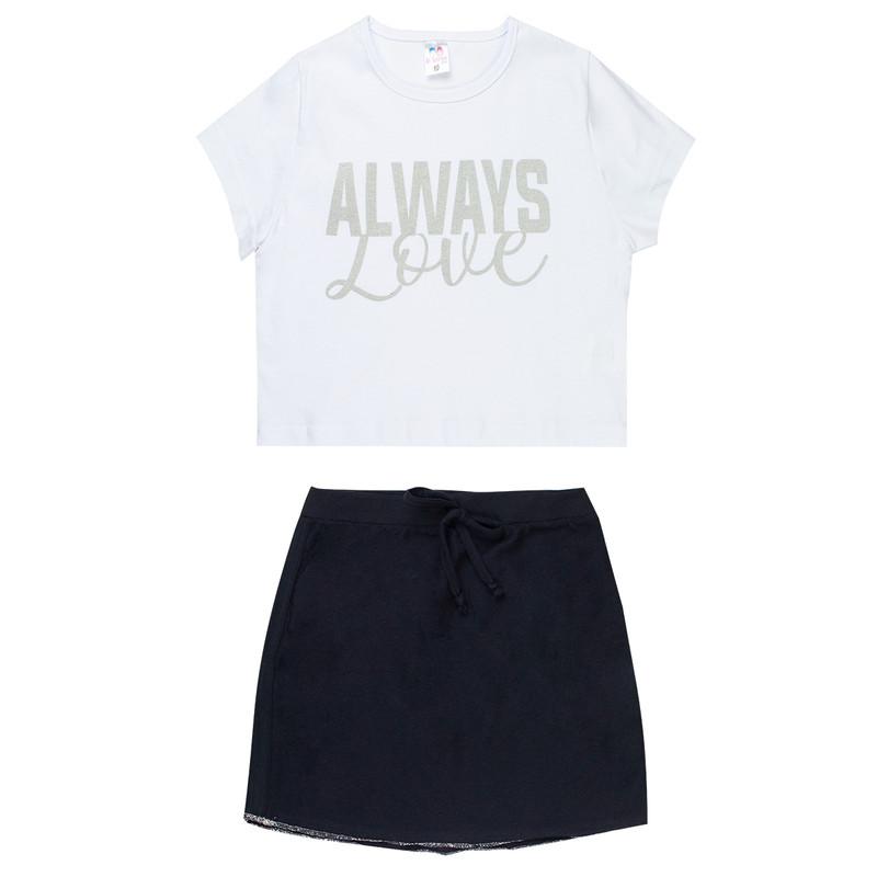 Conjunto Camisa Saia Infantil Menina D' Veras Verão