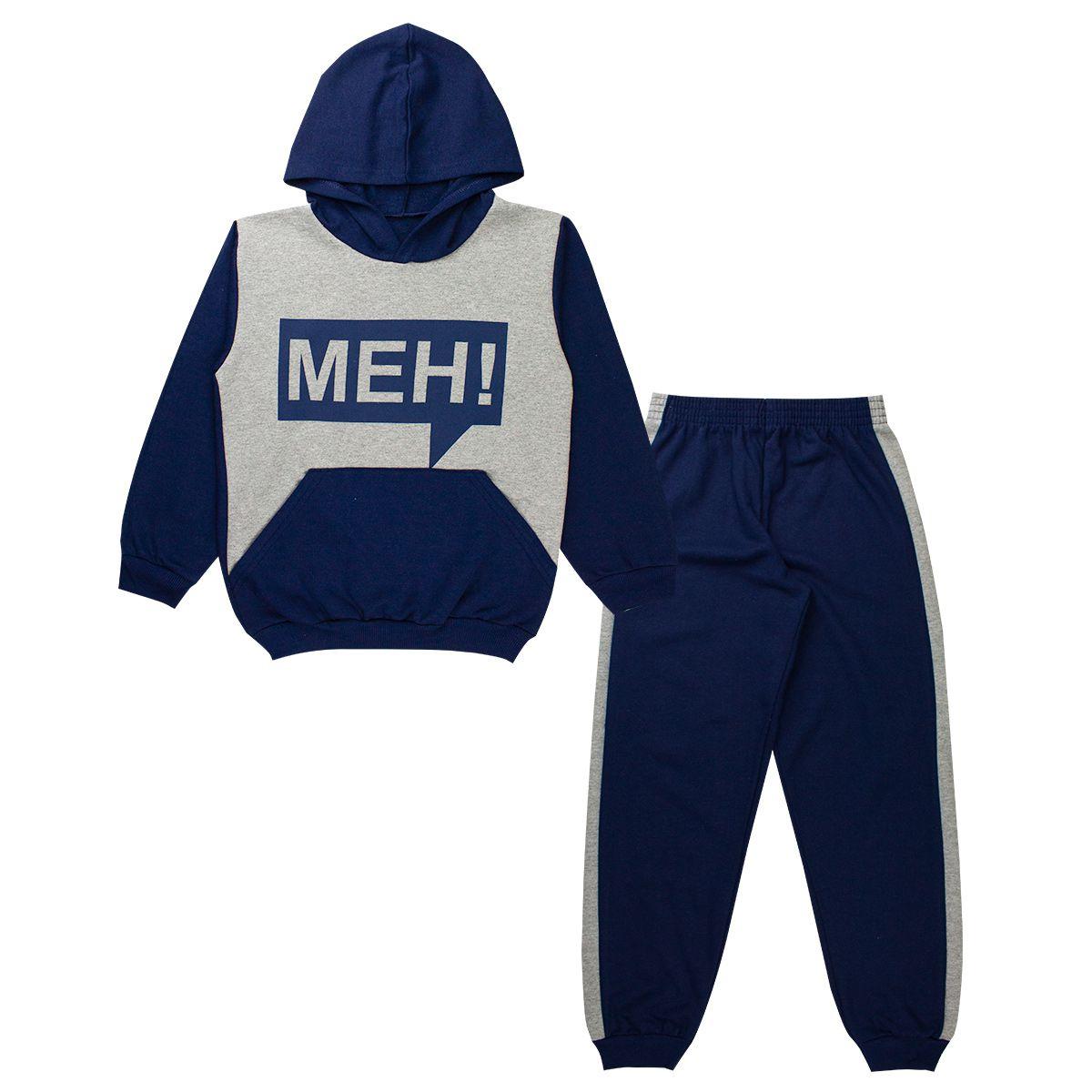 Conjunto de Moletom Infantil Masculino Division Azul