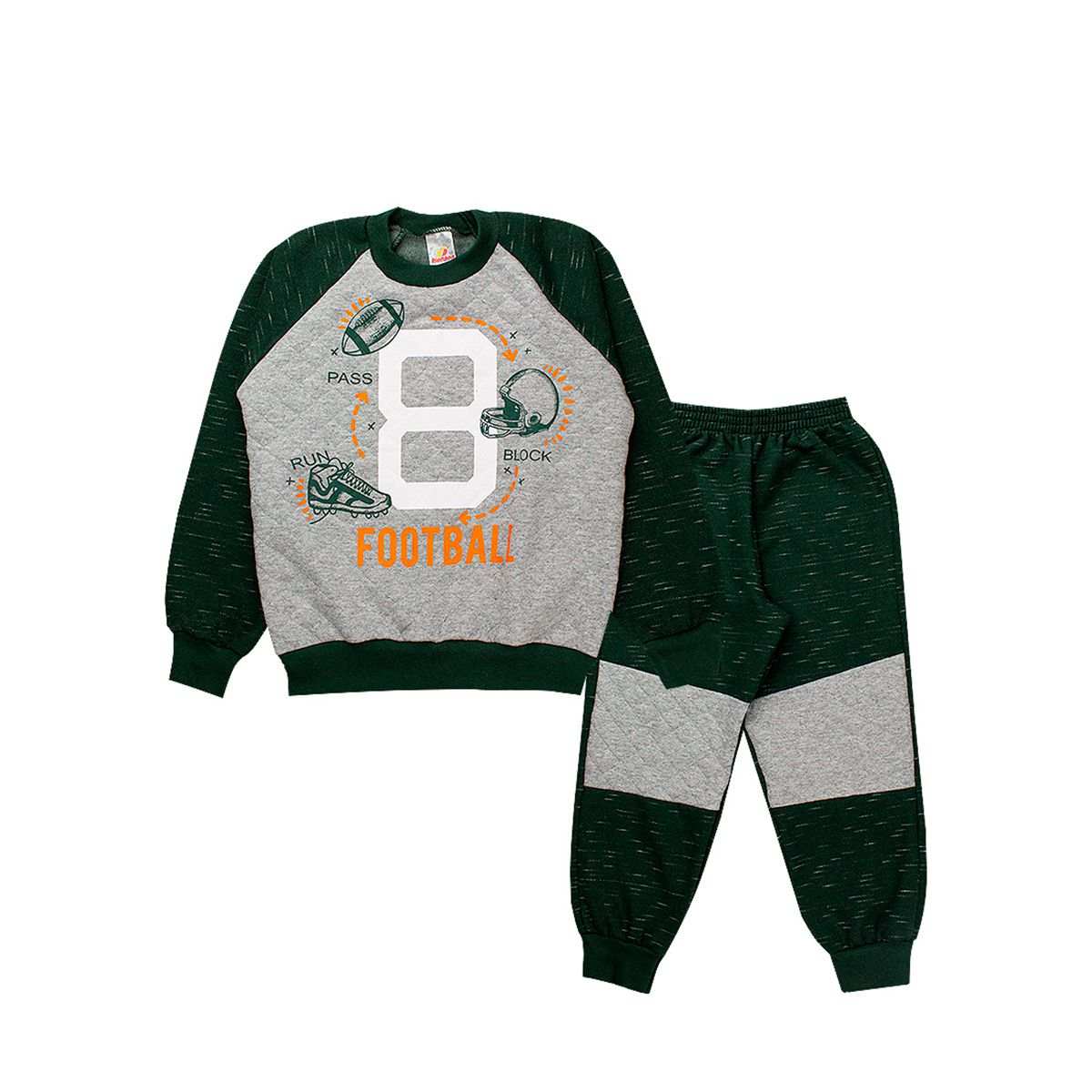 Conjunto de Moletom Infantil Masculino Verde Militar Isensee