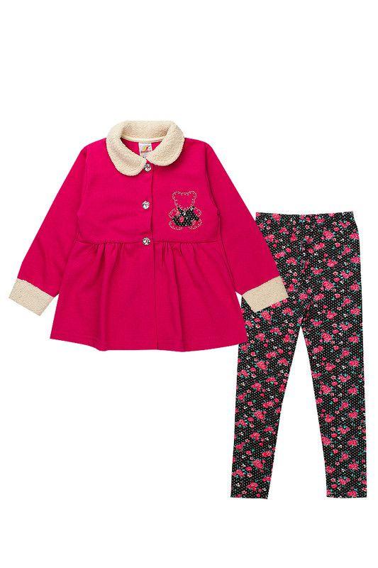 Conjunto de Moletom Infantil Menina Com Legging Pink Isensee