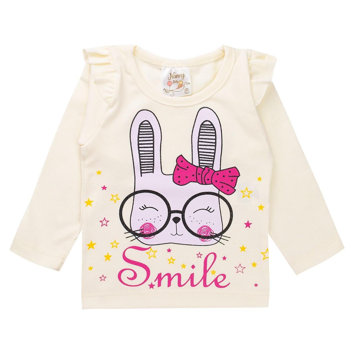Conjunto Infantil Bebê Menina Smile Pérola