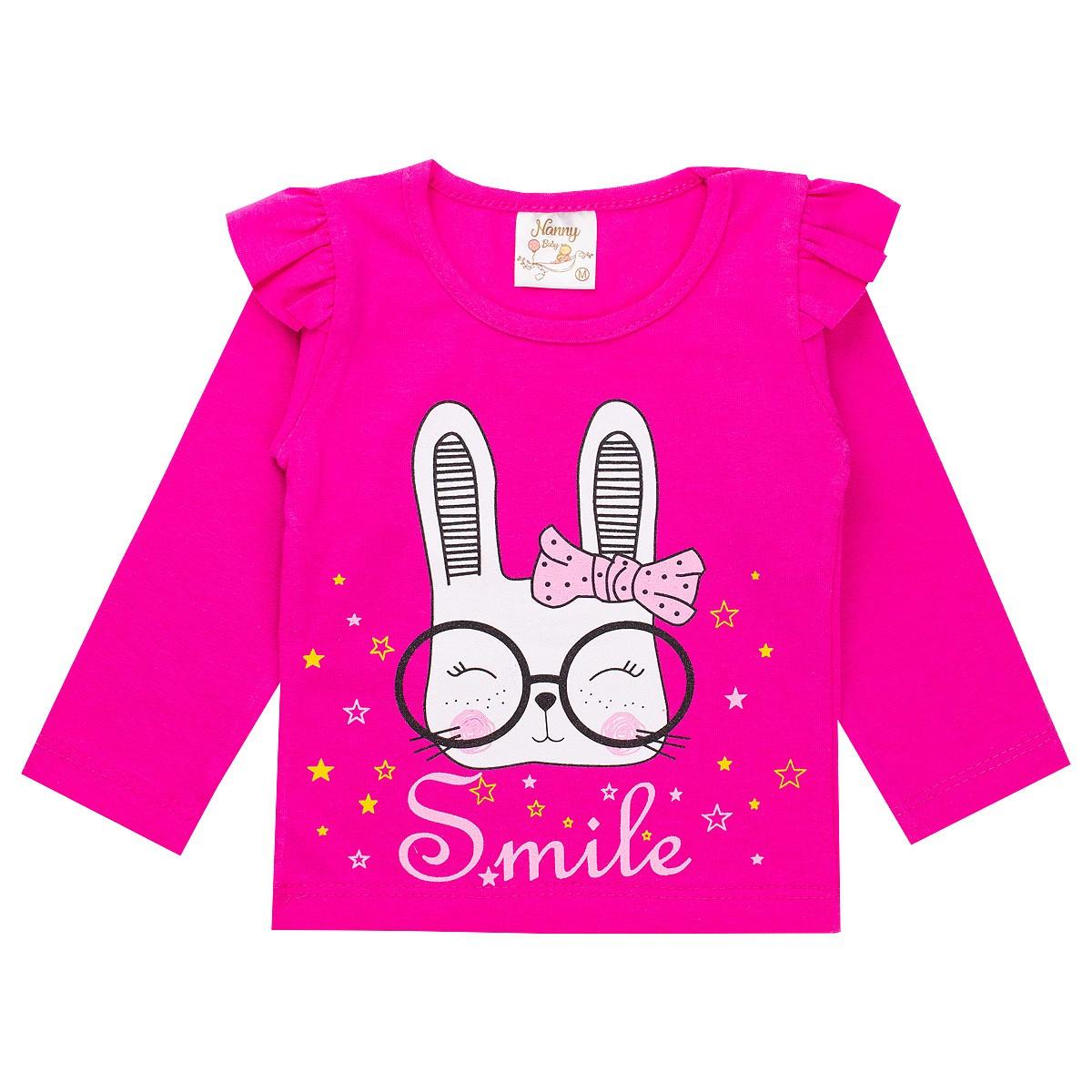 Conjunto Infantil Bebê Menina Smile Pink