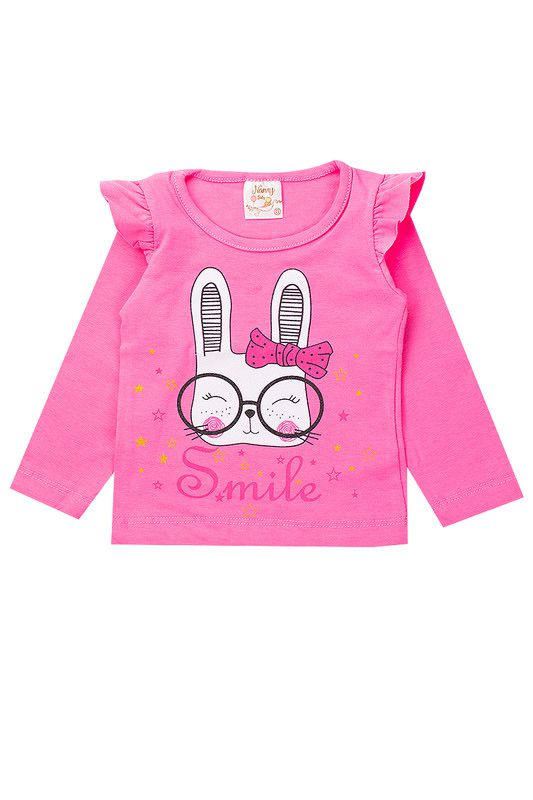 Conjunto Infantil Bebê Menina Smile Rosa