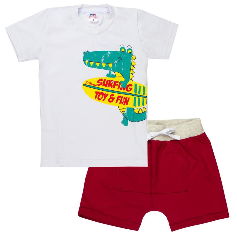 Conjunto Infantil Bebê Menino Jacaré D' Veras Verão