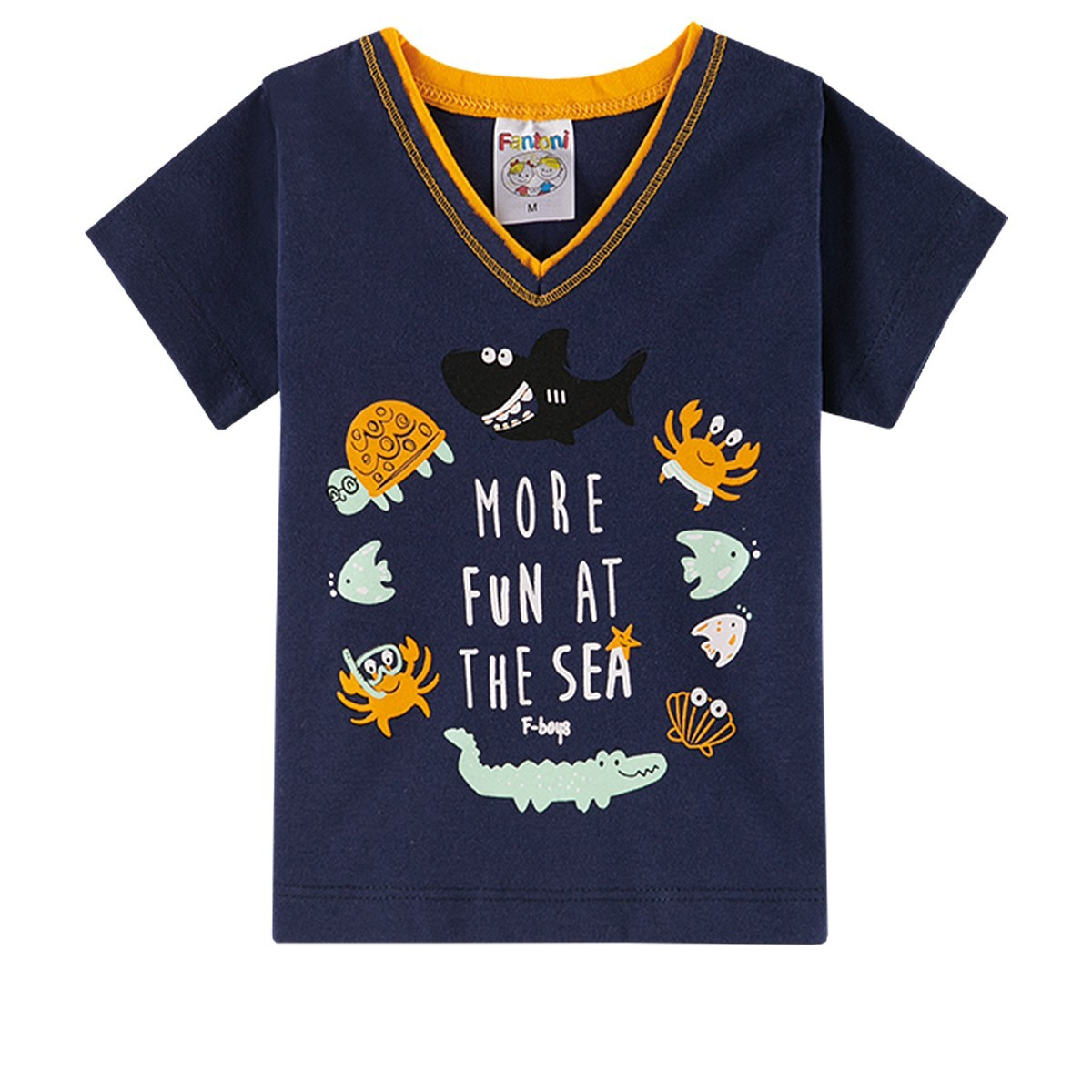 Conjunto Infantil Bebê Menino Ocean More Fun Amarelo